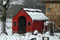 Winterblick in Richtung zur Lieblingsecke für Sommerjob Stockfotografie