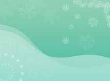 Winterblumen- und -schneeflocken Lizenzfreie Stockfotografie