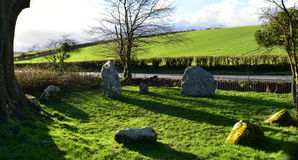 Winterbourne阿拔斯九块石头 免版税库存照片