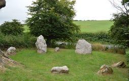 Winterbourne Abbas Nine Stones Fotografia de Stock
