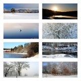Wintercollage Lizenzfreies Stockbild