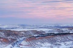 Winterdämmerung über Colorado Lizenzfreie Stockbilder