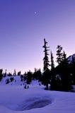 Winterdämmerung im Mt.-Bäcker Stockfoto