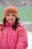 Winterdame Stockbild