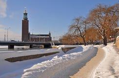 Winterday pieno di sole a Stoccolma Fotografia Stock