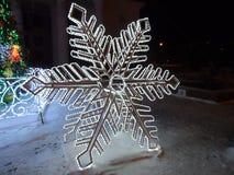 Winterdekoration in Astana Stockfotografie