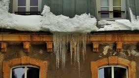 Winterdetails stockbilder