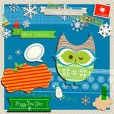 Wintereinklebebuchschablone Stockbild