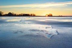 Wintereis Stockbild