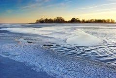 Wintereis Stockfotos