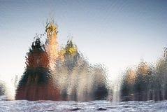 Wintereis, gefrorener Fluss Stockbild