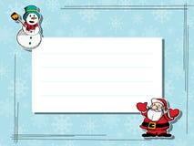Winterfeier-Textkarte Stockbild