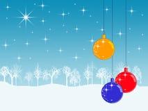 Winterfeiertagshintergrund stock abbildung