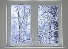 Winterfenster Lizenzfreie Stockfotos