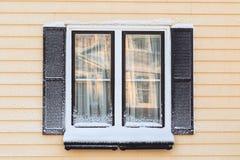 Winterfenster Lizenzfreie Stockfotografie