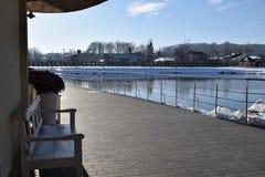 Winterferien außerhalb des Zitierunges Lizenzfreie Stockbilder