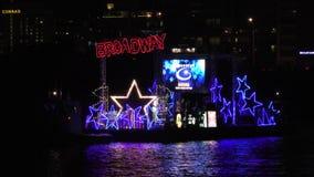Winterfest-Bootsparade 2017 im Fort Lauderdale Florida stock video footage