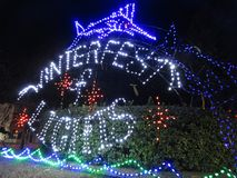 Winterfest Lights in Ocean City Maryland stock photography