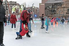 The 2018 Winterfest on Public Square in downtown Cleveland, Ohio, USA stock image