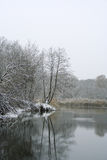 Winterfluß stockbilder