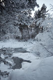 Winterfluß stockfotos