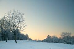 Winterfluß nachts Lizenzfreie Stockfotografie