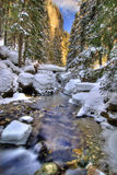 Winterflußlandschaft Lizenzfreie Stockfotos