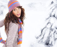 Winterfrau Lizenzfreie Stockbilder