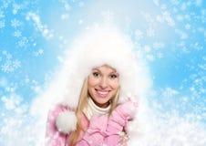 Winterfrau Stockbild