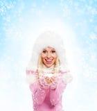Winterfrau Stockfoto