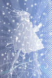 Winterfrau lizenzfreie abbildung