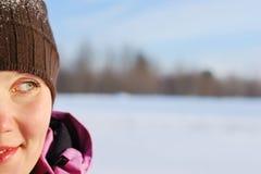 Winterfrauen Stockfotografie
