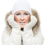 Winterfrauen Lizenzfreies Stockfoto