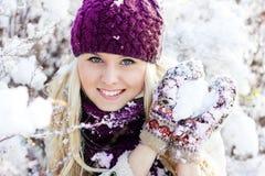 Winterfrauen stockfoto