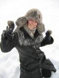 Winterfreude Stockfoto
