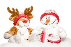 Winterfreunde lizenzfreies stockfoto