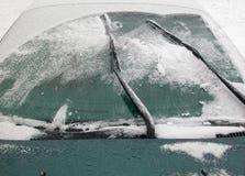 Winterfrontscheibe lizenzfreie stockfotografie