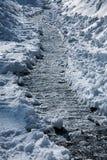 Winterfußweg stockbild