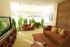Wintergarden con le piante Fotografie Stock Libere da Diritti