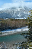 Wintergebirgsfluss (Österreich, Tirol) Stockbild