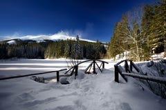 Wintergebirgslandschaft Lizenzfreies Stockbild
