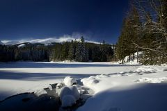 Wintergebirgslandschaft Stockfotografie