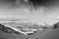 WintergebirgsSkiort Stockfoto