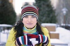 Wintergefühle Stockfoto