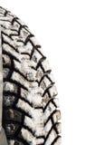 Wintergummireifen im Schnee Lizenzfreies Stockbild