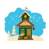 Winterhaussammlung ein des Satzes Stockfoto