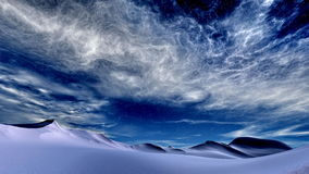 Winterhimmel lizenzfreie stockfotografie