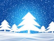 Winterhintergrund 2 Lizenzfreie Stockfotografie