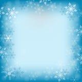 Winterhintergrund mit Schneeflocken Lizenzfreies Stockbild