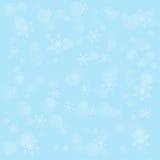 Winterhintergrund mit Schneeflocken Lizenzfreie Stockfotos